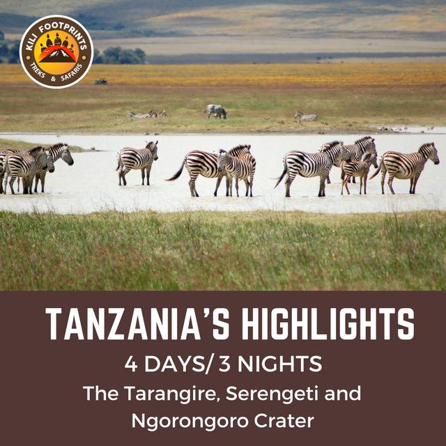 KILI FOOTPRINTS - TANZANIA HIGHLIGHTS SAFARI TOUR