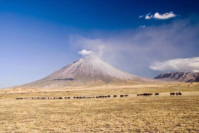 unique volcano Ol Doinyo Lengai Tanzania 1