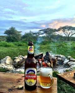 Kilimanjaro beer, camp kilimanjaro, camping,